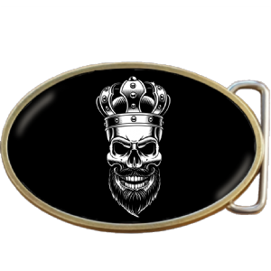 Viking King Skull Belt Buckle. Code A0054